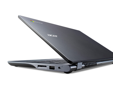 Under 1-inch thick, this Acer Chromebook has a design slim profile.