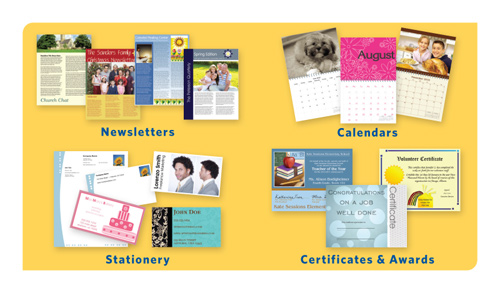 Newsletters, Calendars, Stationery, Certificates & Awards