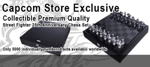 Capcom Street Fighter® 25th Anniversary Chess Set