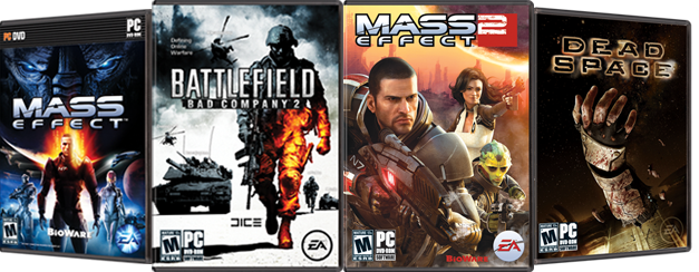 50% off Mass Effect™, Battlefield Bad Company™ 2, Mass Effect™ 2, and Dead Space™. Three Day Sale.