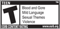 ESRB Rated T for Teen