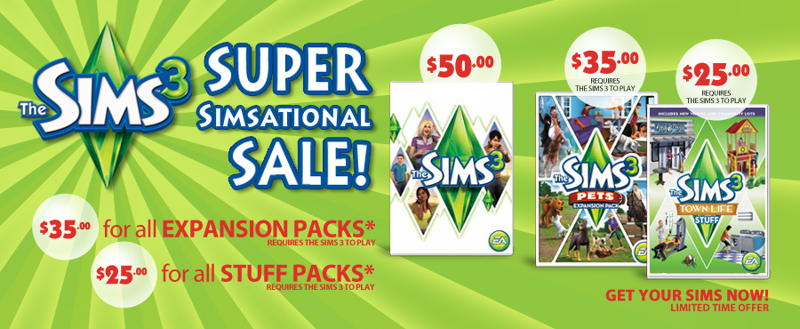 The Sims 3™ Super Simsational Sale