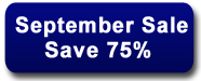 September Sale - Save 75%