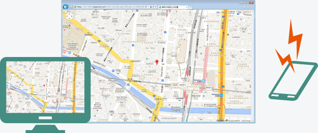 GPS追跡機能