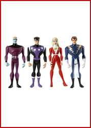 JLU Legion of Super Heroes 4-Pack