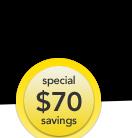 special $70 savings
