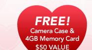 FREE Camera Case & 4GB Memory Card - $50 VALUE