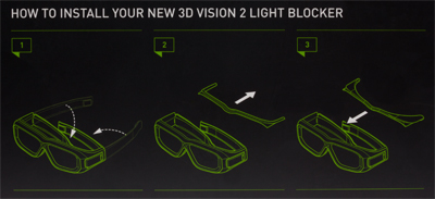 3D Vision 2 Glasses Case and Light Blocker