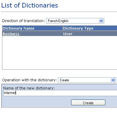 PTS 8.0 Intranet Edition creación del diccionario