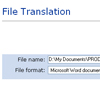 PTS 8.0 Intranet Edition file translation