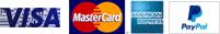 We accept Visa, MasterCard, American Express, PayPal