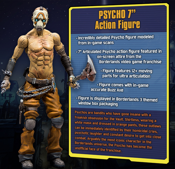 MCFARLANE TOYS PSYCHO 7 INCH ACTION FIGURE