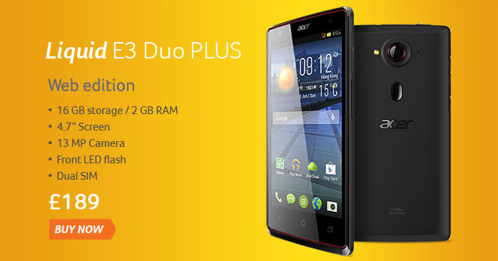 Liquid E3 Duo PLUS | Dual SIM + 16 GB Storage/2 GB RAM