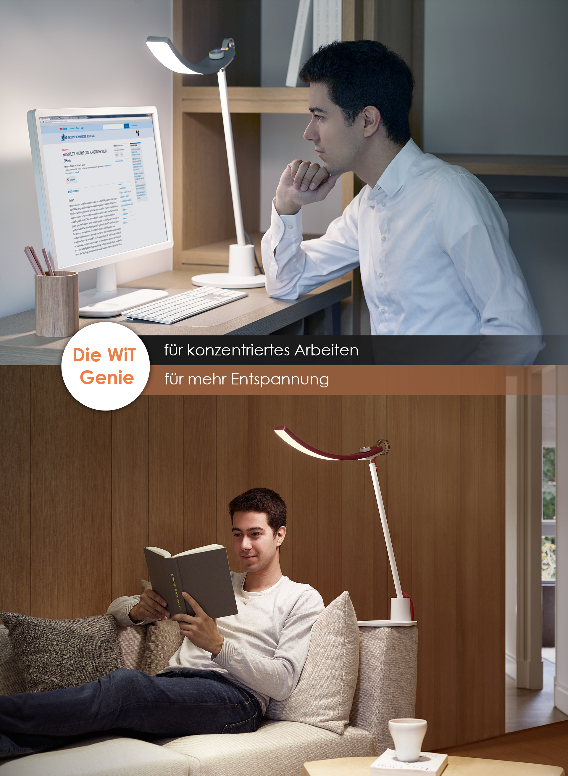 BenQ WiT is for all reading moods and environments. Either you prefer relaxed reading or want to focus on work.