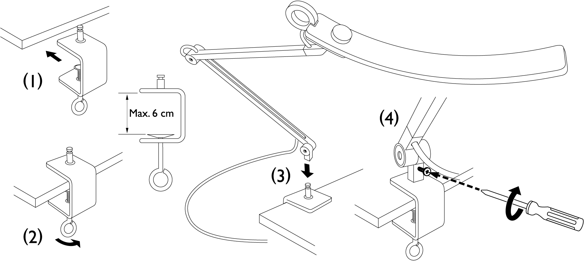WiT desk clamp installation instruction