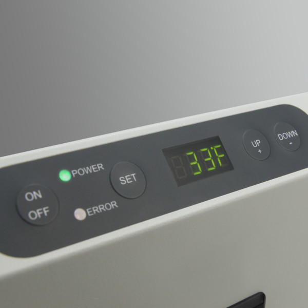 Easily control and monitor the temperature via a digital display