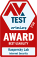 AV TEST BEST USABILITY 2019年2月受賞