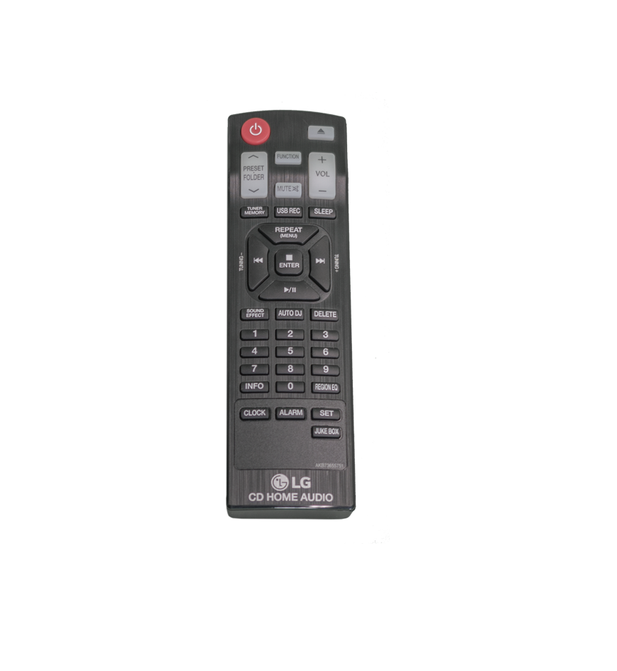 LG Mini shelf system Remote Control AKB73655751