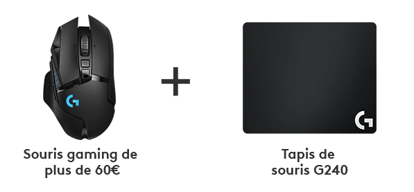 Gaming Mouse plus G240 Mousepad for 60 euro