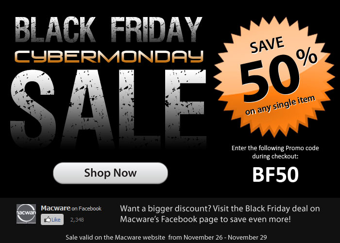 Black Friday sale - Save 50% on any single item on the