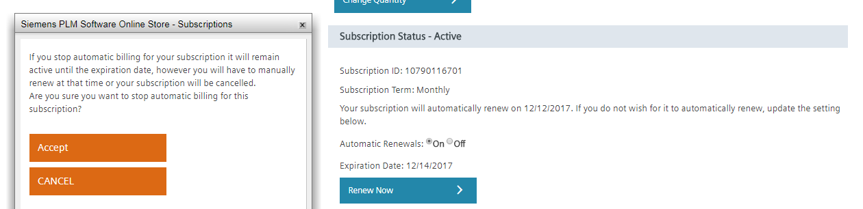 Renew Now button